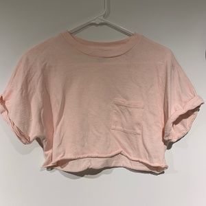 TopShop light pink crop shirt
